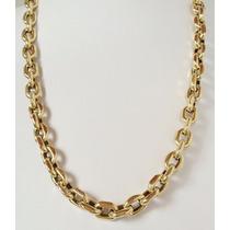 Corrente Cordão Cartier Cadeado Em Ouro 18k 750 Luxo Grossa