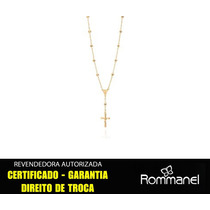Gargantilha Terço Cruz Da Ponta Ouro Rommanel 530557