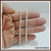 Cordão, Corrente Cadeado Com 40cm Em Prata 950 Frete Grátis
