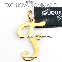 Rommanel Gargantilha Pingente Com Letra F Nome 540675 531315