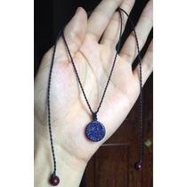 Colar Hippie Com Pedra Estrela Lapidada E Polida Regulável