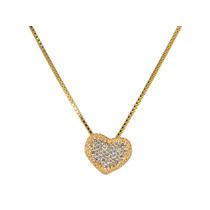 Gargantilha Prata Banhada A Ouro 18k Com Pingente De Coração