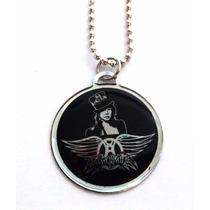 Colar Banda Aerosmith Rock Corrente Pingente Símbolo Cordão