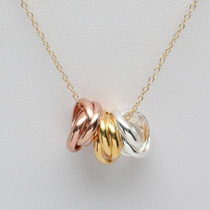 Colar Feminino Prata 925 + Ouro 14k + Ouro Rosa + Prata Pura