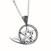 Colar Unissex Cordão + Pingente Estrela De Davi Aço Inox 316