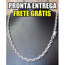 Corrente Cordao De Prata 950k. Original!!! Cadeado 55gms