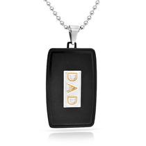 Bling Jewelry Pendente Placa De Identificação Ouro Negro A