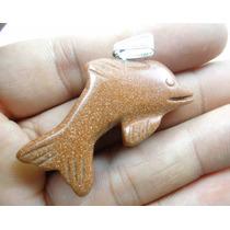 Pingente 11,8gr Golfinho Esculpido Em Pedra Do Sol - J1298