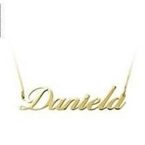 Gargantilha Em Ouro 18 K Com Seu Nome Personalizado