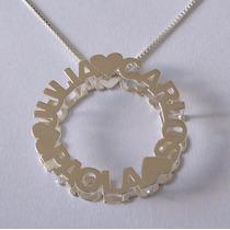 Colar Mandala Com Nomes Personalizados - Em Prata 925