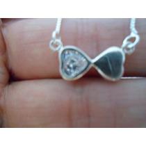 Gargantilha Prata 925 Com Pingente Coração