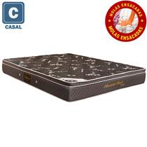 Colchao Casal Herval Millenium Black Bambu Mola 25x138x188cm