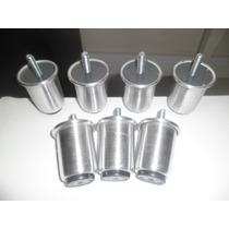 Pé De Cama Box Kit C/7pés Alumínio C/6cm De Altura P/camabau