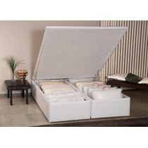 Cama Box Casal Ortobom Americana Bau Cori Bianco 1380x1880x0