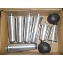 Pé De Cama Box Kit C/7pés Alumínioc/12cm De Altura P/camabau
