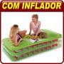 Colchão Inflável Solteiro Elevado C/ Bomba Elétrica - Intex