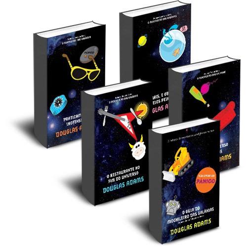 Coleção Completa Do Guia Do Mochileiro Das Galáxias 5 Livros