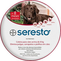 Coleira Anti Pulgas E Carrapatos Bayer Seresto Para Cães