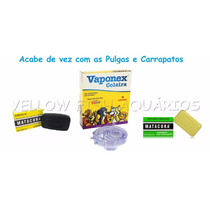 Kit Anti Pulgas P/ Cães Coleira Vaponex Sabonete Matacura