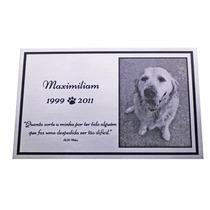 Placa De Lápide Para Cães E Gatos Personalizada Com Foto M