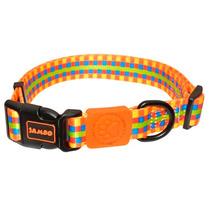 Coleira Jambo Color Square Para Cachorros - Tamanho M
