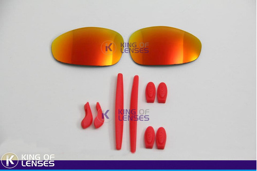 Combo Lente Custom + Borrachinha Para Oakley Juliet