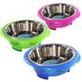 Comedouro 450ml Inox P/ Cachorros Cães Gatos Western Pet-83