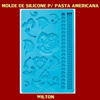 Wilton Molde Silicone Para Pasta Americana, Modelo Tecido