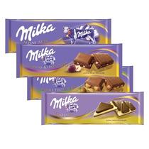 Kit 4 Barras Chocolate Milka Alpine Milk 300 Gramas Cada