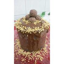 Natal Chocotone Gourmet Recheado Com Brigadeiro 1kg A112