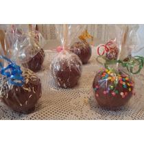 Maçã Do Amor Coberta Com Chocolate - Kit Com 10 - R$ 19,00