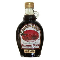 Xarope Maple Canadense Com Cranberry Syrup 250ml