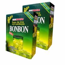 24 Latas Suco Uva Verde Pedaços Coreano Bon Bon Hachi8