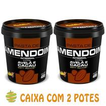 2 Potes De Pasta De Amendoim Cacau Com Avelã (480g) Mandubim