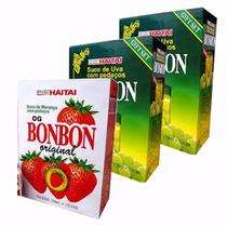 36 Latas Suco Uva E Morango Pedaços Coreano Bon Bon Hachi8