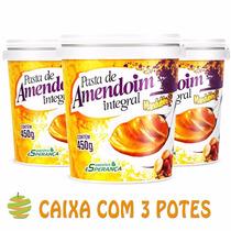 3 Potes De Pasta De Amendoim Integral Mandubim - 450g
