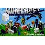 Minecraft - Papel Arroz Para Bolo Tam A3 - Mod. 1