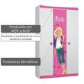 Roupeiro Infantil Juvenil Barbie Happy Pura Magia