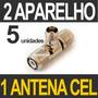 5 Divisor 2 Aparelhos Celular Modem Antena Rural Externa