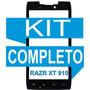 Tela Vidro Visor Motorola Xt910 Xt912 Preto + Kit Completo