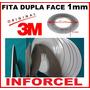 Fita Adesiva 3m Dupla Face 1mm 50mts P Reparo De Touchscreen