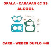 Kit Carburador Opala/caravan 6cc Alc Weber Duplo 446