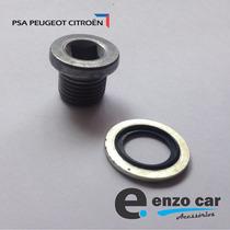 Kit Anel + Bujão Parafuso Cárter Óleo Motor Peugeot Citroen