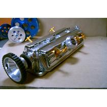 Capela P/ Motor Do Chevette Com Tampas Cromadas E...