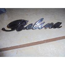 Belina I - Emblema Manuscrito Capô Em Metal Corcel Novo