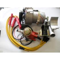 Kit Combo Alternador 75ah+ignição Hall+cabo Vela 10mm Fusca