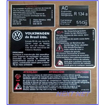 Etiqueta Capo Adesivo Vw Cofre Motor Golf Óleo Ar Cond.