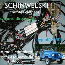 Chicote Elétrico Jeep Cj + Chave Seta + Caixa Fusível +nota