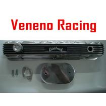 Tampa Valvula Opala 6cc Edelbrock Aluminio + Filtro Polido