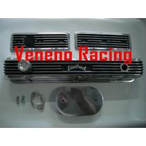 Combo Tampa Valvula Opala 6cc Edelbrock Aluminio Polido